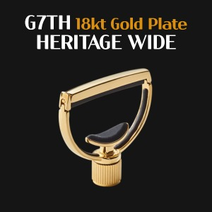 G7TH Heritage Capo 18kt Gold Plate wide neck width 지세븐스 헤리티지 와이드 카포